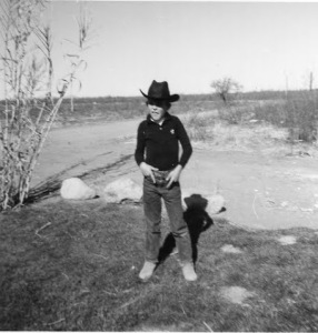 On the ranch, circa 1964, shortly after I shot a man in Reno just to watch him die.