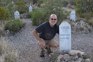 John at Kansas Kid Grave Marker